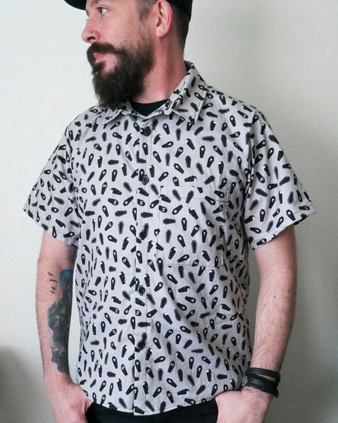 Coffin Time Button-up Shirt