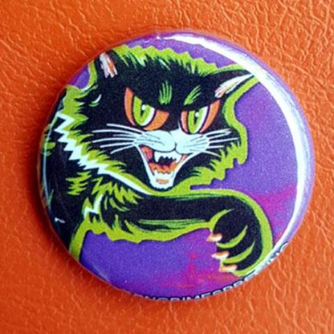 Cat Scratch Classic 1.25 inch Pinback Button or Magnet