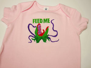 Feed Me Hungry Plant Baby Bodysuit