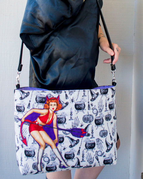 Spellbinding Pinups Devil Witch Bag