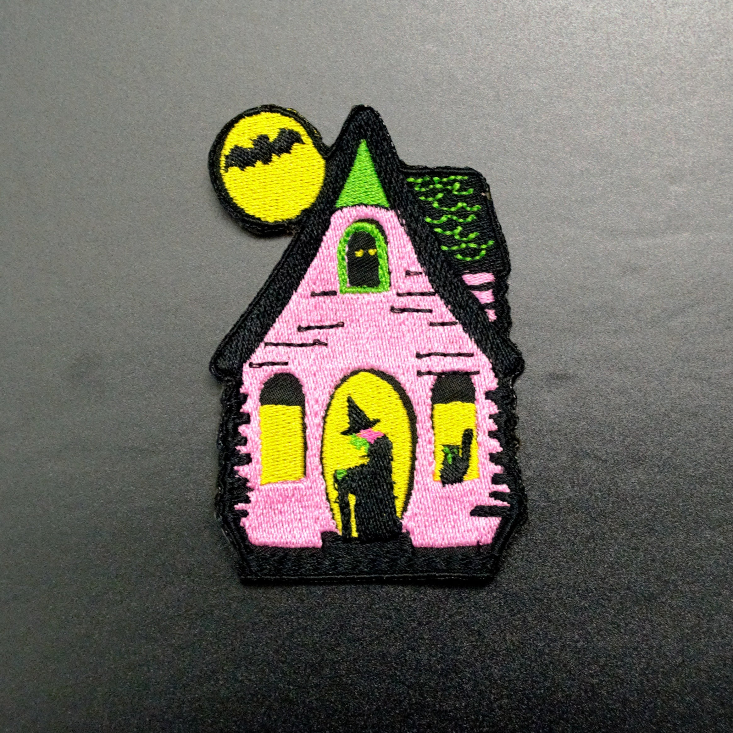 haunted witch house iron on patch
