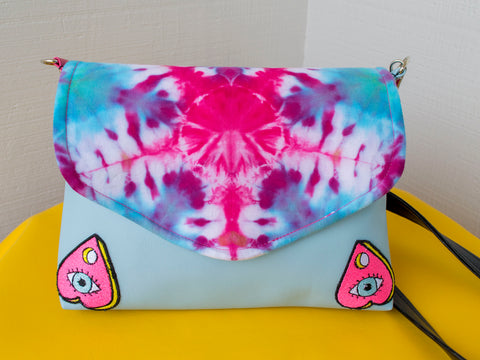 Cotton Candy Ouija Board Flapover Purse