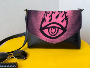Optical Occult Flapover Purse