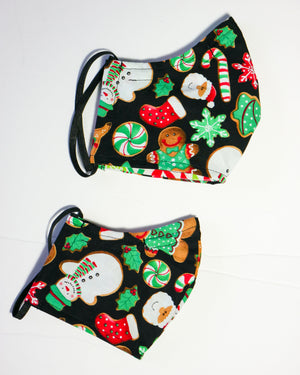 CLEARANCE Xmas Cookies Face Mask - Adult