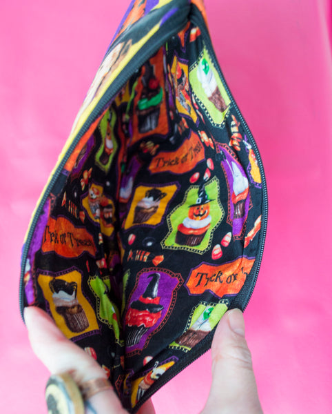 Spellbinding Pinup Moon Witch Coffin Pouch