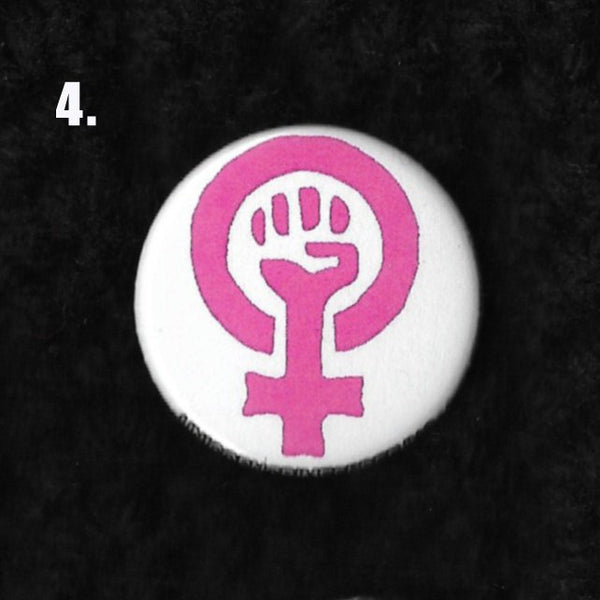 Feminist Equality Pussyhat Flair 1.25 inch Pinback Button or Magnet