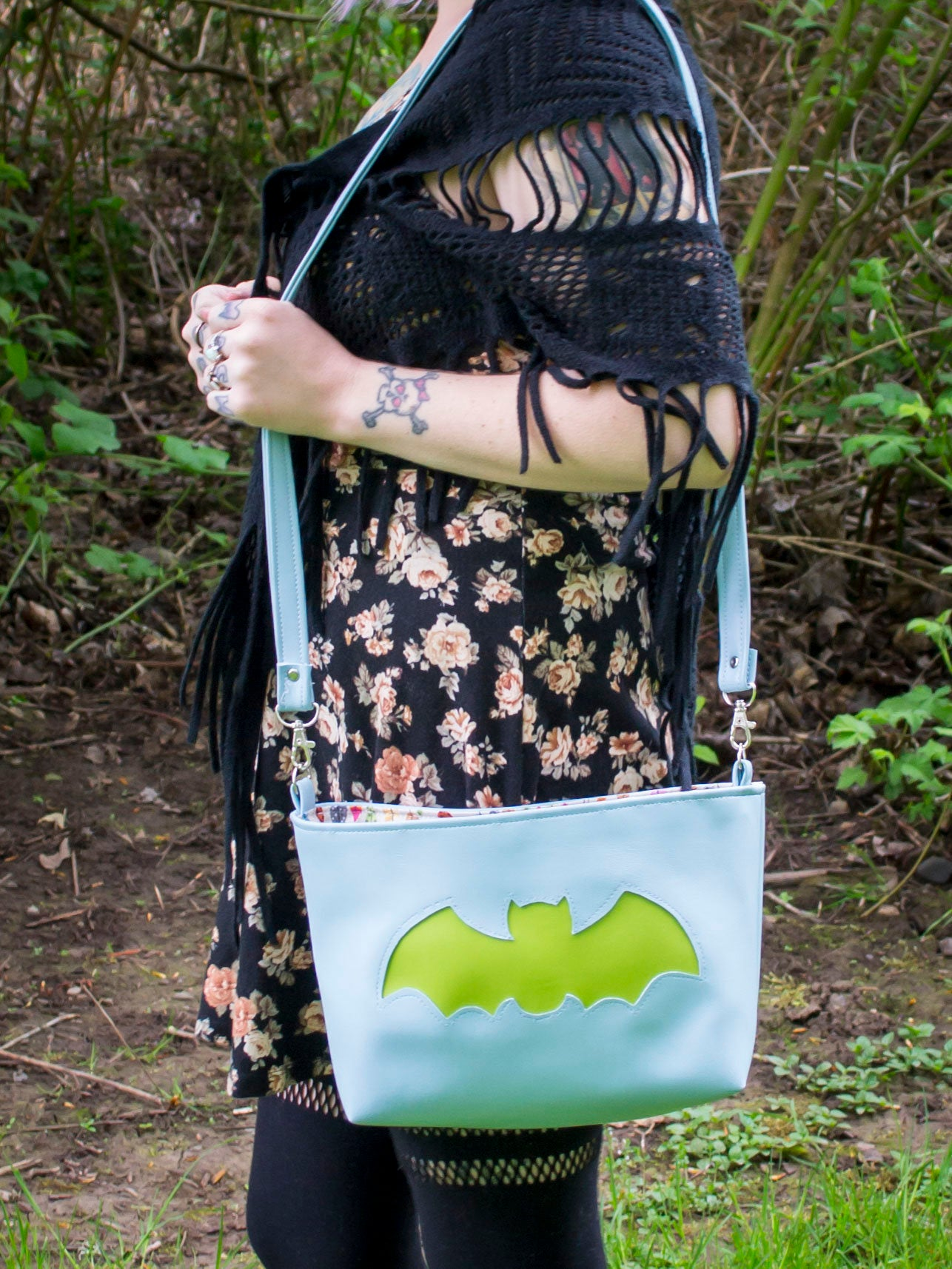 Earthy Bat Small Tote