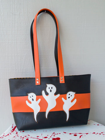 Haunted Halloween Ghost Tote