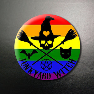 Junkyard Witch Pride 1.25 inch Pinback Button or Magnet