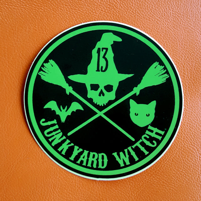 "Junkyard Witch Circle Logo 3"" Vinyl Sticker"