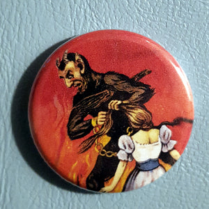 Krampus #1      1.25 inch Pinback Button or Magnet