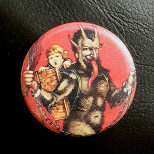 Krampus #2      1.25 inch Pinback Button or Magnet