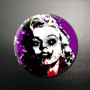 Elvis and Marilyn Creeps.... 2 Pinback Buttons or Magnets