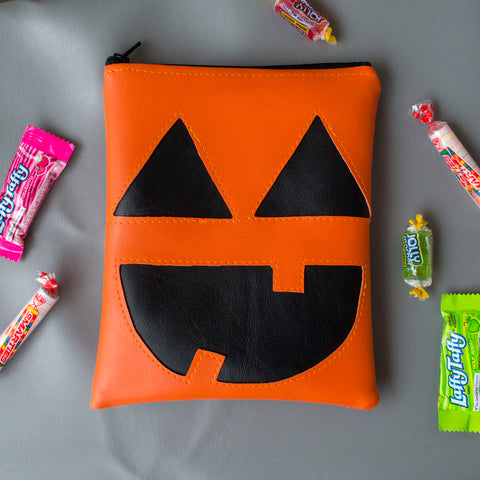 Small Cute-O-Lantern Pumpkin Zipper Pouch