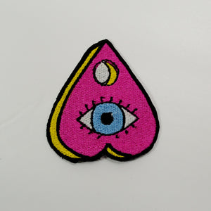 pink blue eyeball horror patch