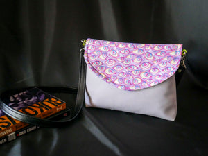 Pink Purple Pastel Eyeball Crossbody