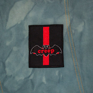 Gothic Bat black and red Iron on Patch