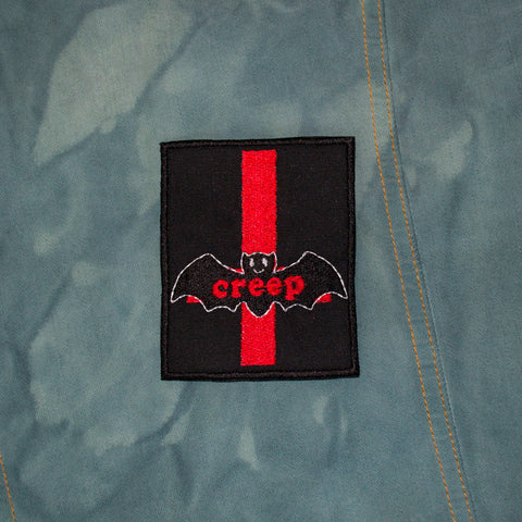 Creepy Goth Bat Patch