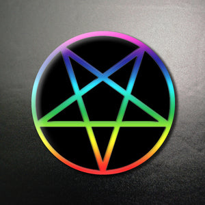 Pride Pentacle 1.25 inch Pinback Button or Magnet