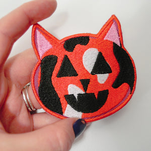 orange black calico cat patch