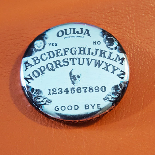 Ouija Limited Edition Brushed Silver 1.25 inch Pinback Button