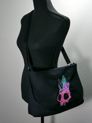Crystal Skull Messenger Bag