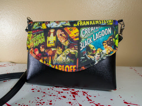 Monster Movie Mash Flapover Purse