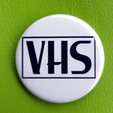 VHS 1.25 inch Pinback Button or Magnet