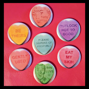 Modern Love Valentine Collection   1.25 inch Pinback Button or Magnet