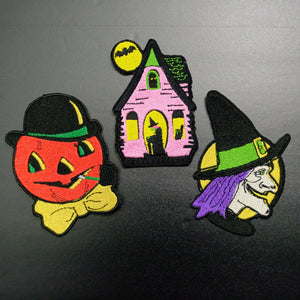 vintage halloween decoration patch