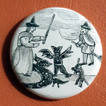Load image into Gallery viewer, Vintage Witchcraft #3.       1.25 inch Pinback Button or Magnet