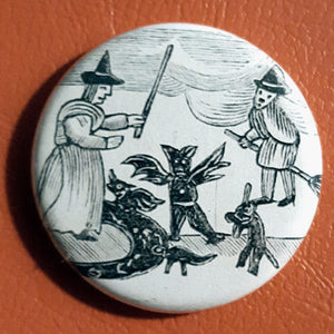 Vintage Witchcraft #3.       1.25 inch Pinback Button or Magnet