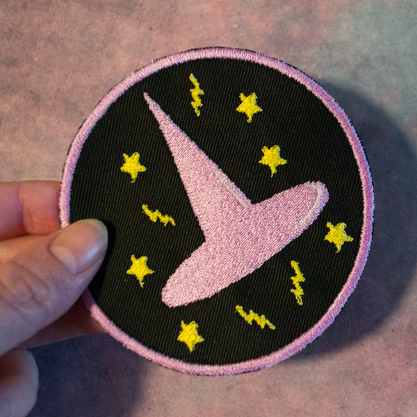 Violet Witch's Hat Patch