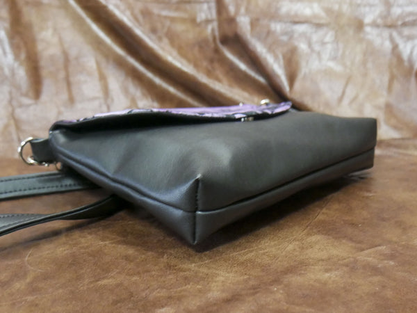 Violet Creepers and Oddities Flapover Purse