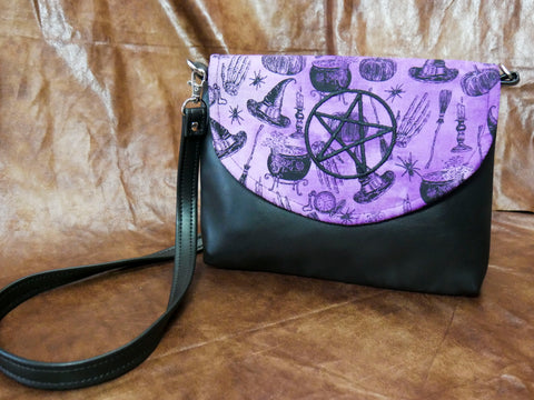 Violet Witchcraft Flapover Purse