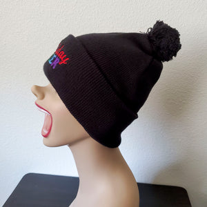 Holiday Queer Festive Beanie with Pom Pom