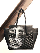 Load image into Gallery viewer, Collaboration between contemporary artist Colette von & Los Angeles' handbag designer, Vivian Vette. This bag was created in a series called Wearable.