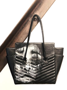 Collaboration between contemporary artist Colette von & Los Angeles' handbag designer, Vivian Vette. This bag was created in a series called Wearable.