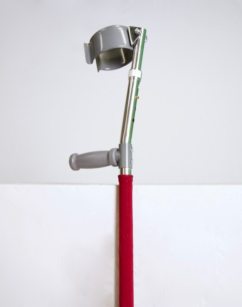 Deep Red Solid Crutch Skin