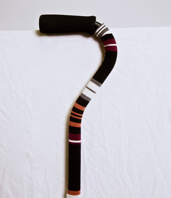 Wide Striped Black Cane Skin