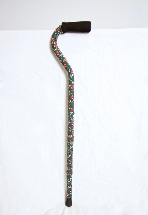 Green and Red Floral Cane Skin