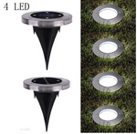 4-LED Solar Power Light Inground Buried Lamp outer