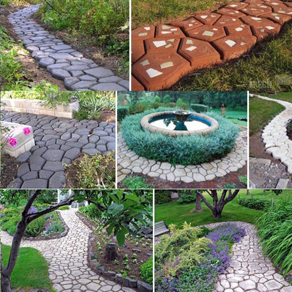 Path Maker Mold Reusable Concrete Cement Stone Design