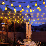 Led solar light string bee light string bubble water wafer ball light ins outdoor garden decoration lantern
