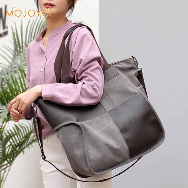 Unisex Splicing Leather Canvas Plaid Shoulder Messenger Handbags Women Men Large Capacity Crossbody Bags torebki damskie 2019