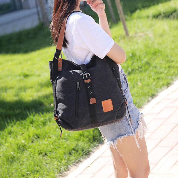 Women Canvas Casual Shoulder Bag Travel Handbag Ladies Zipper Large Capacity Crossbody Messenger Bag Bolsa Feminina Dropshipping
