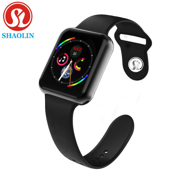 Smart Watch Series 4 Smartwatch for Apple iOS iPhone Android Wristwatch Sport Bluetooth Bracelet Fitness Tracker (Red Button)