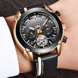 Men's Mechanical Watch, LIGE Automatic Mechanical Watch