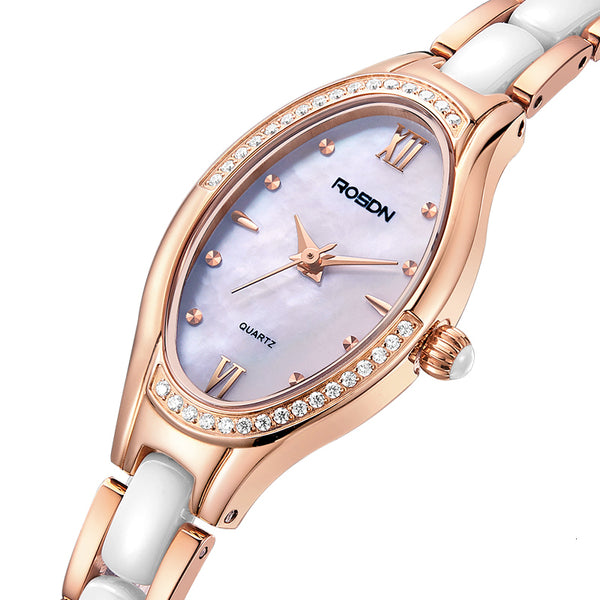 Women's Watches Luxury Brand ROSDN Japan Quartz Movement Sapphire Watch Lady 50M Waterproof Diamond 7 mm Ultra-thin Clock R3221