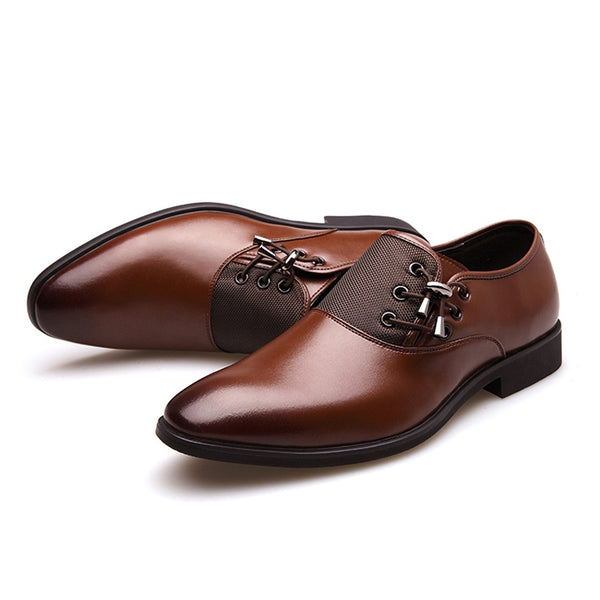 Designer New Men's Dress Shoes Mens Classic Shoes Point Toe Black Oxfords For Mens Business Formal Shoes Men Fashion Party Shoes